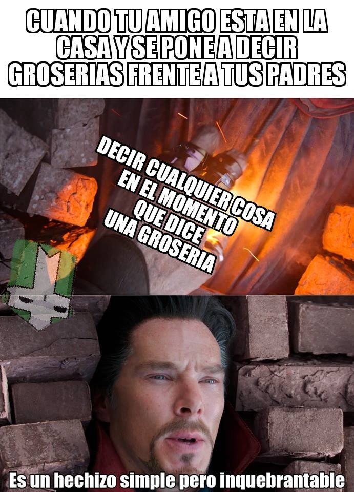 Es un hechizo simple pero inquebrantable - meme