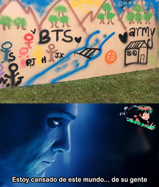 Fans de BTS bandalizando escuelas :/ - meme