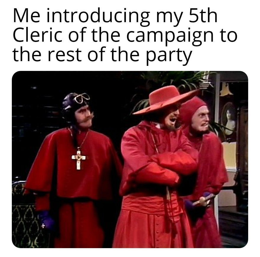 Nobody expects the spanish inquisition - meme
