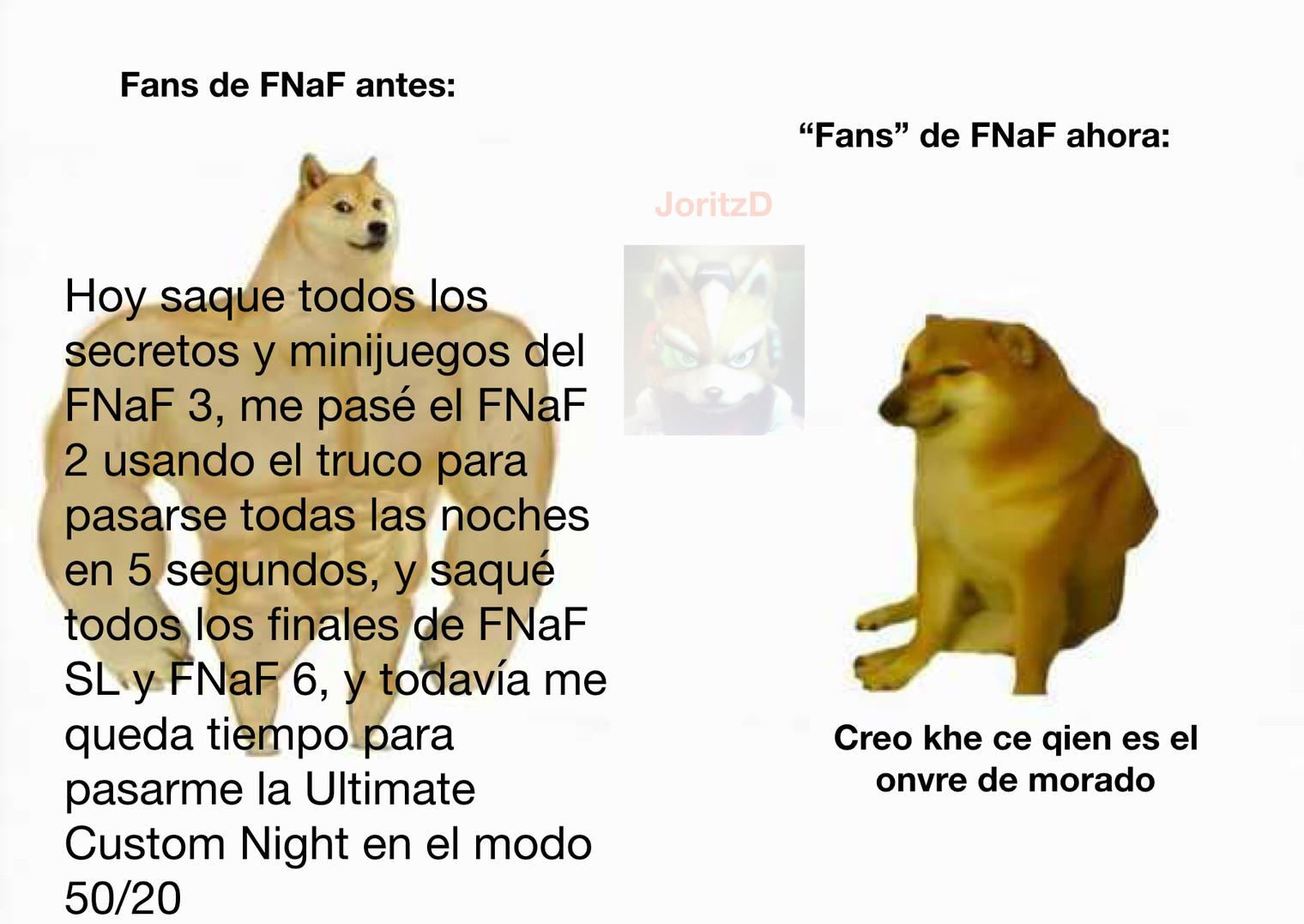 Fans de FNaF - meme