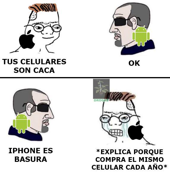 Cuando les dices porque Android es mejor que Apple se ponen a llorar - meme