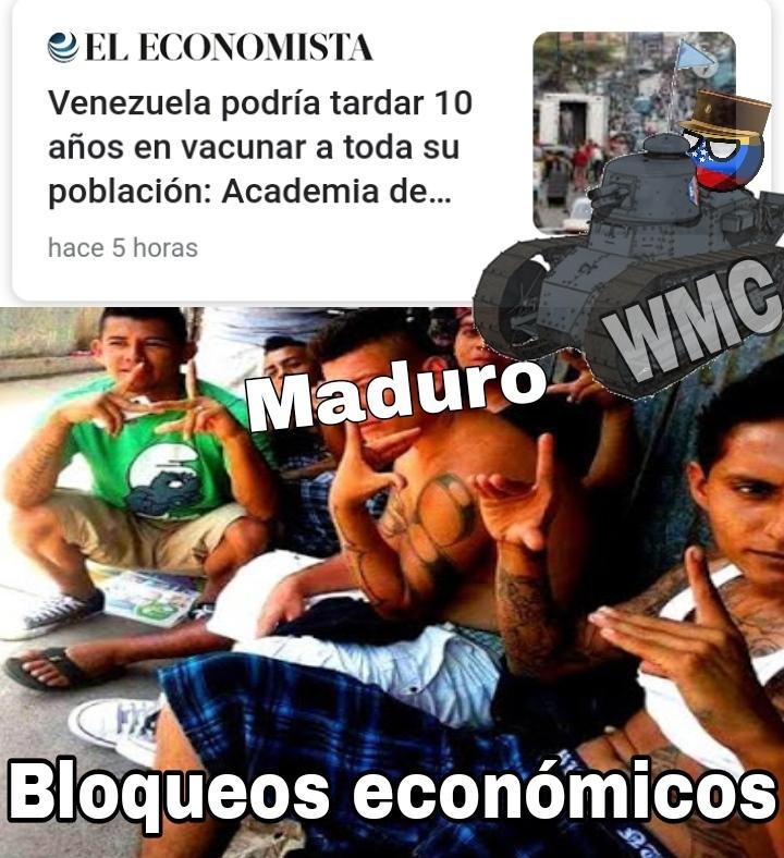 Malditasea Maduro entiende que si dejas de robar plata podrías vacunar aunque sea a la Capital - meme