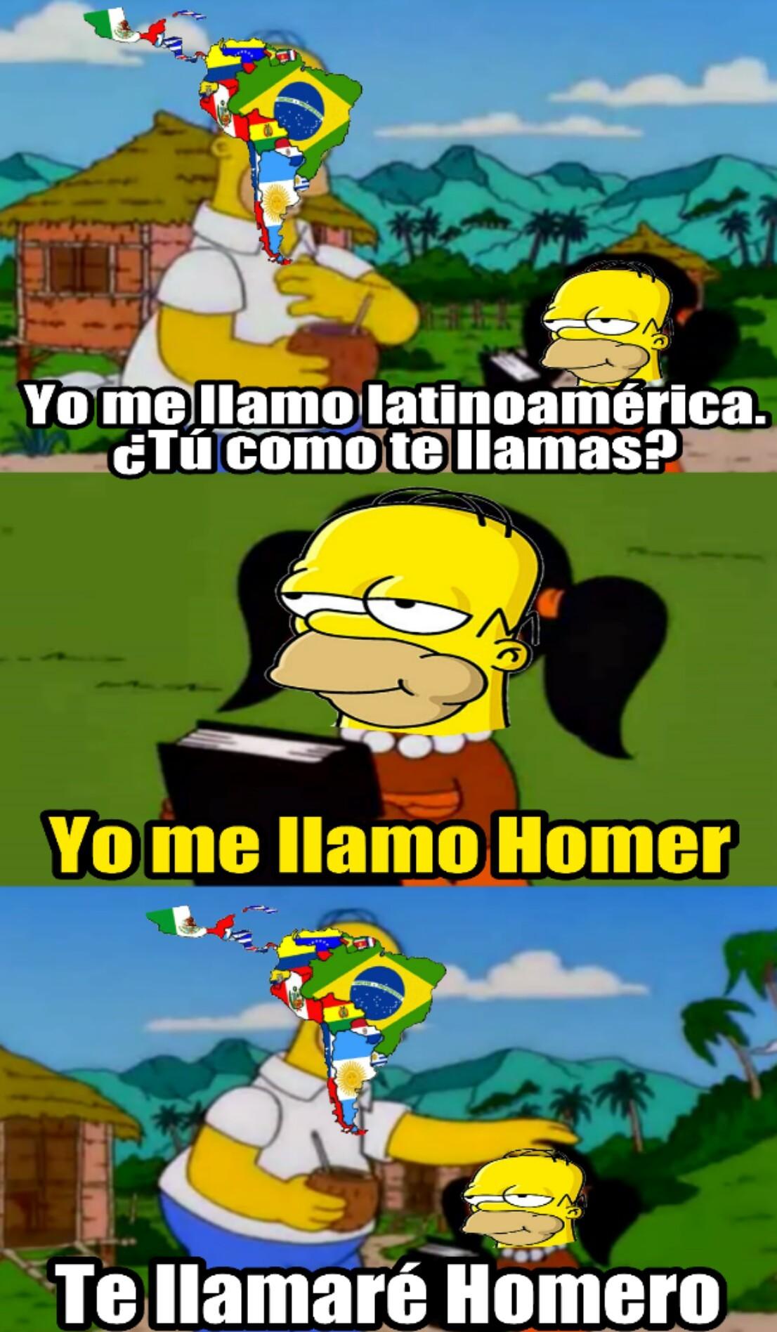 Yo soy latino pero sé que es Homer y no Homero - meme