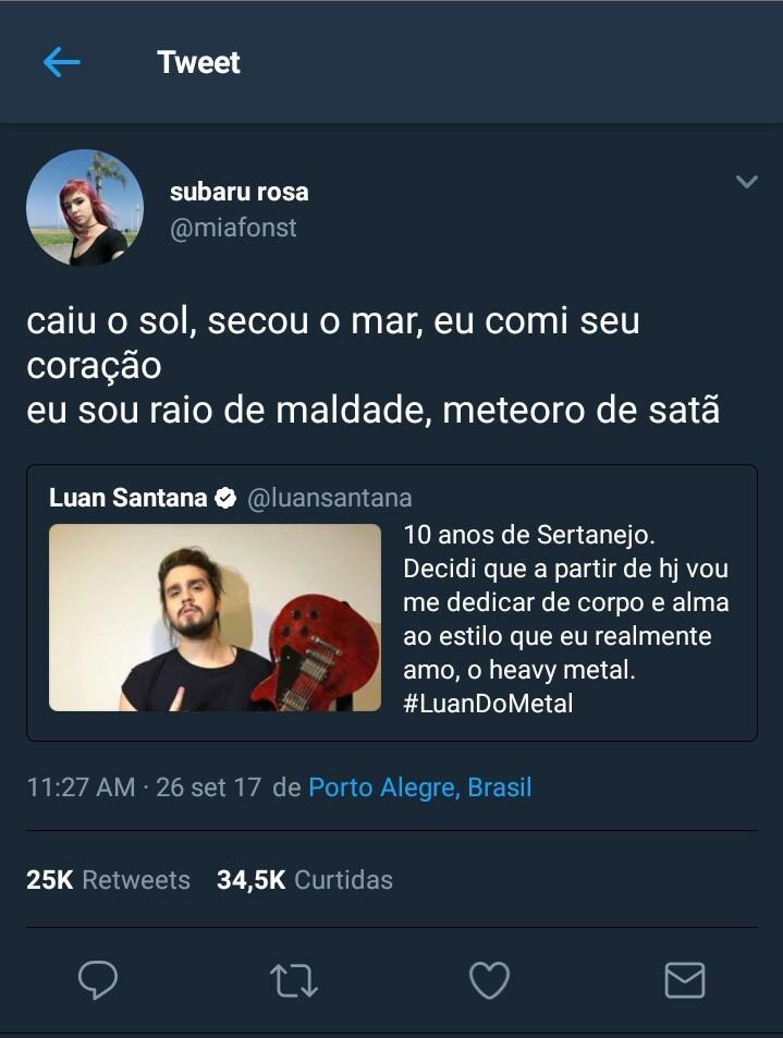 #LuandoMetal - meme
