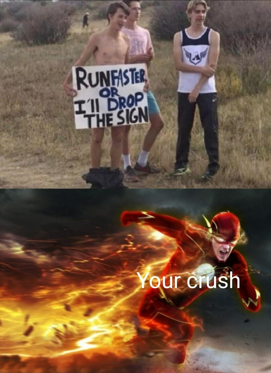 Go slower, I want him to drop the sign - meme