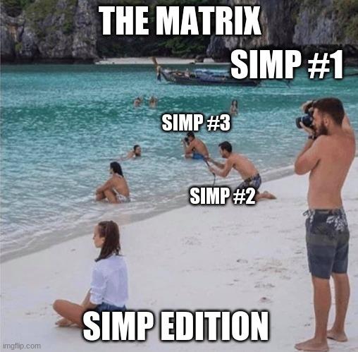"""Haha Skinny boi go """"SIMP"""" - meme"""