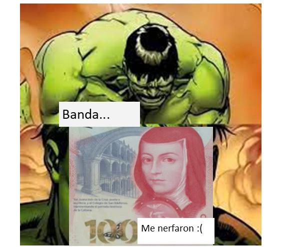 contexto: Habia en México un billete de 200 que tenia la cara de Sor Juana y ahora la cara de Sor Juana esta en el billete de 100 - meme