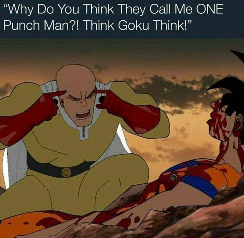 Think Goku, think - meme
