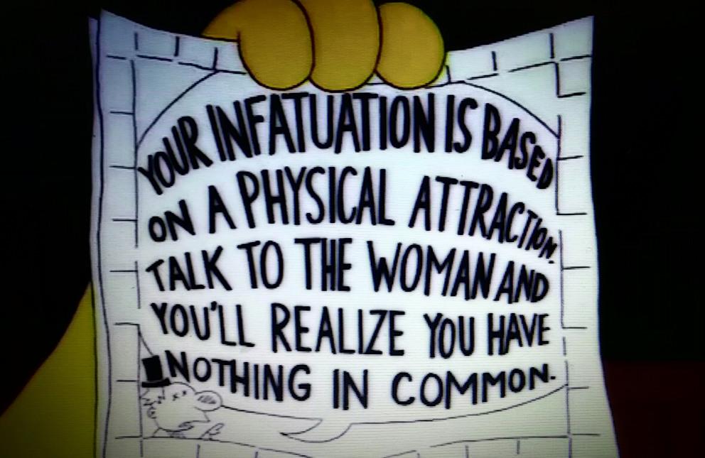 Simpson's dating advice - meme