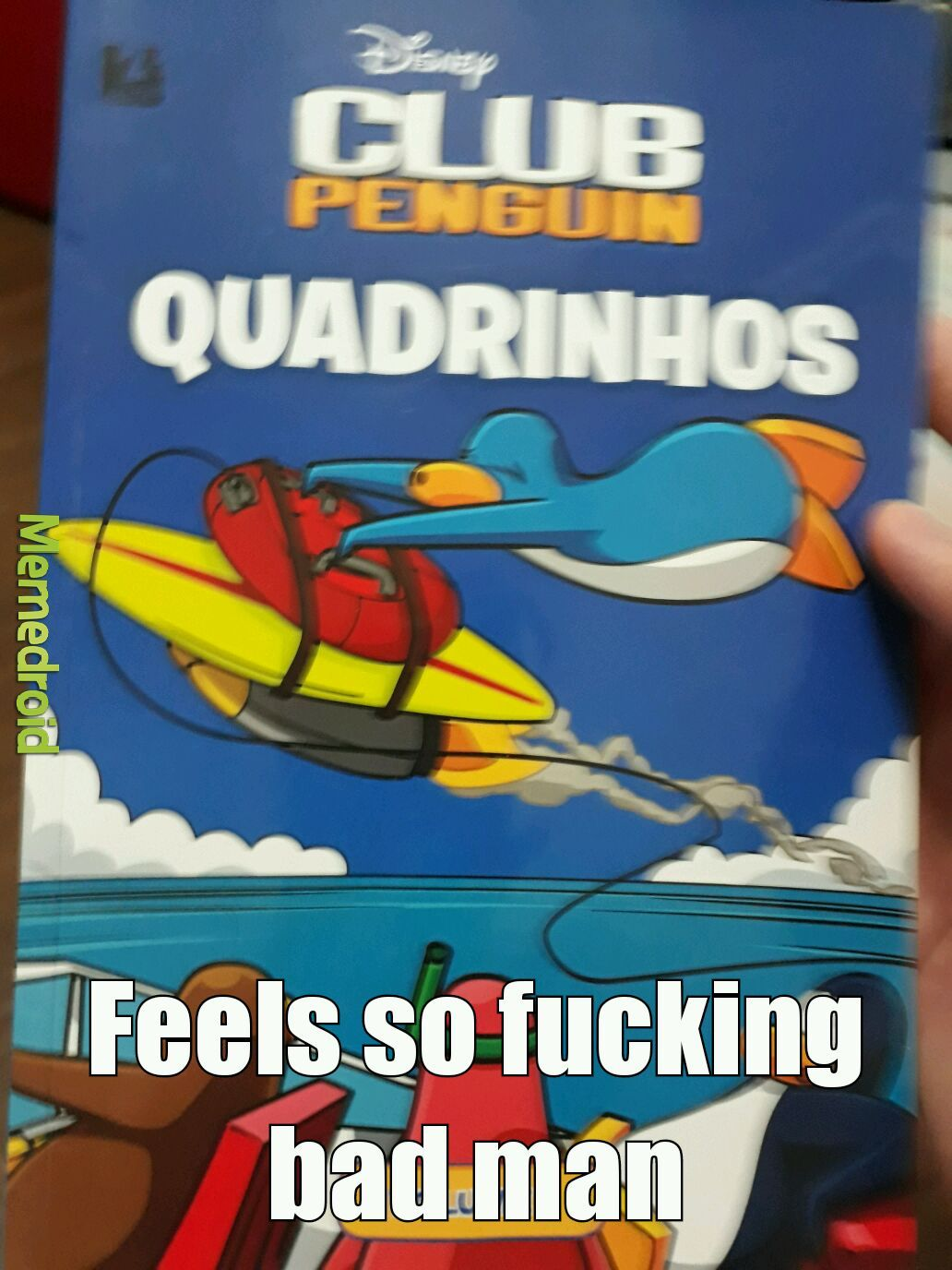 Devo postar os quadrinhos do livro? - meme