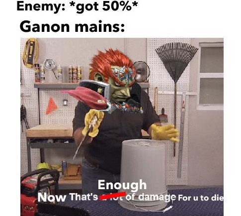 *Ganons mains in elite smash* - meme