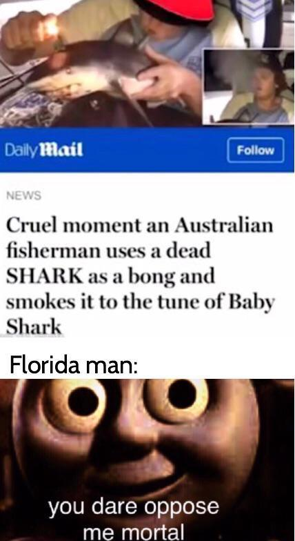 Florida man will rise to the challenge - meme
