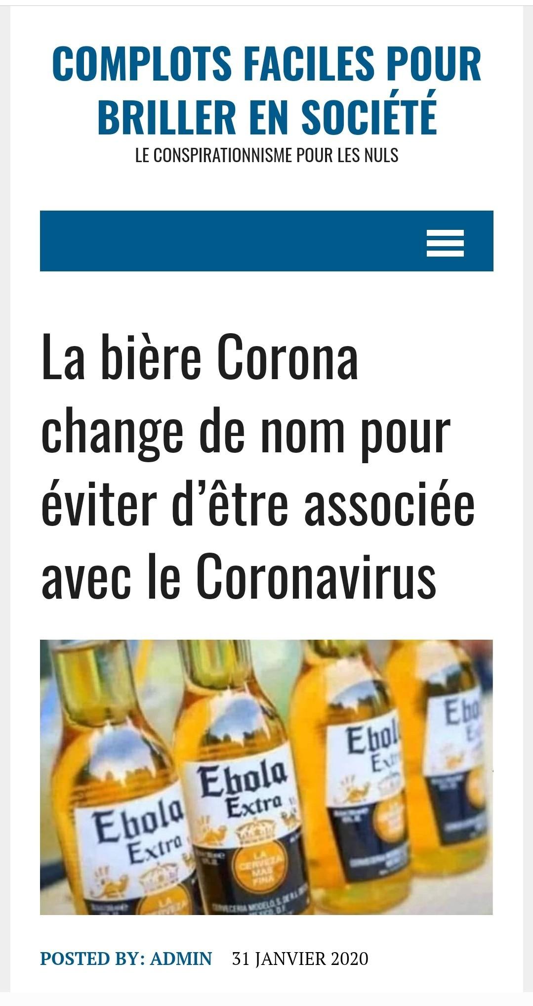 Je n'aime pas poster des articles mais il fallait que je leur fasse de la pub (et que je surfe sur le coronavirus moi aussi, non ? X)) - meme