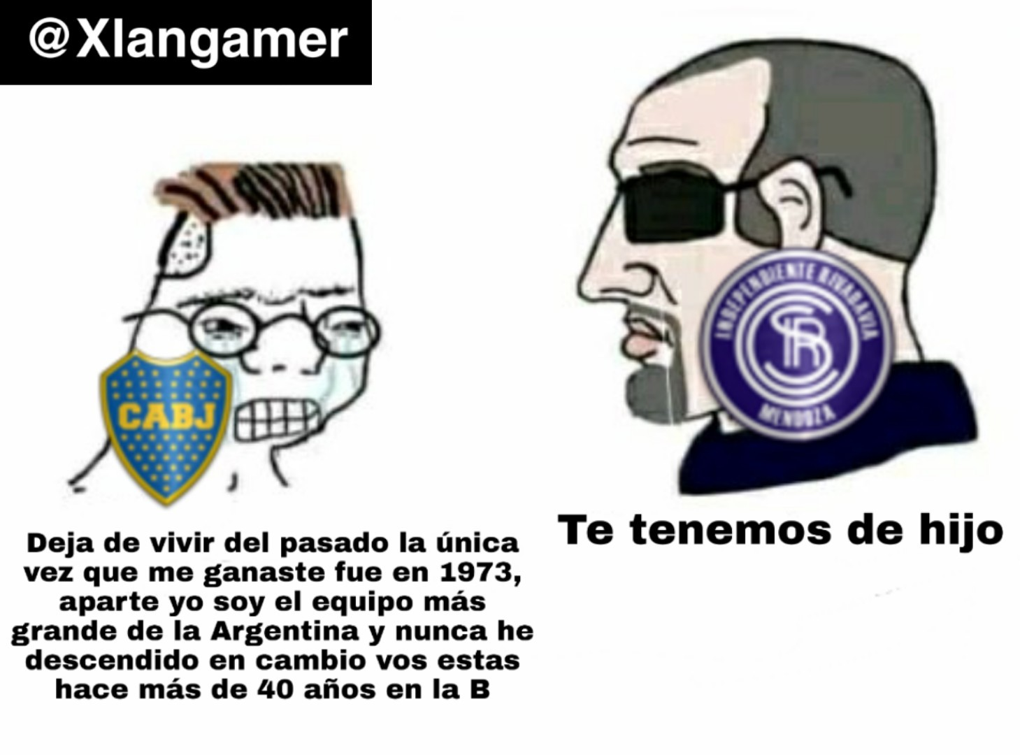 The virgin boca vs the chad independiente de rivadavia - meme