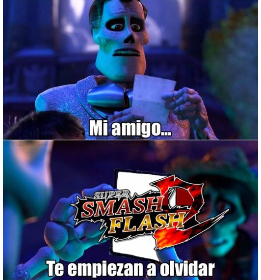 """por si no sabias smash flash 2 es un fangame de smash que podes descargarlo o jugarlo sin descargar. lo jugaba de chiquito y ahora lo tengo instalado :"""") - meme"""