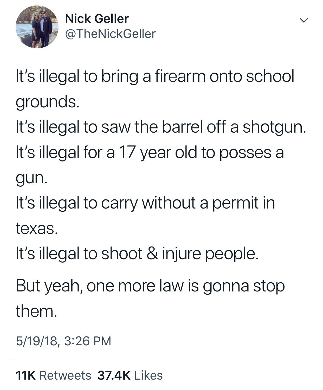 The second amendment is absolute - meme