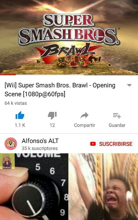 Espero con ansias el super smash bros ultimate - meme