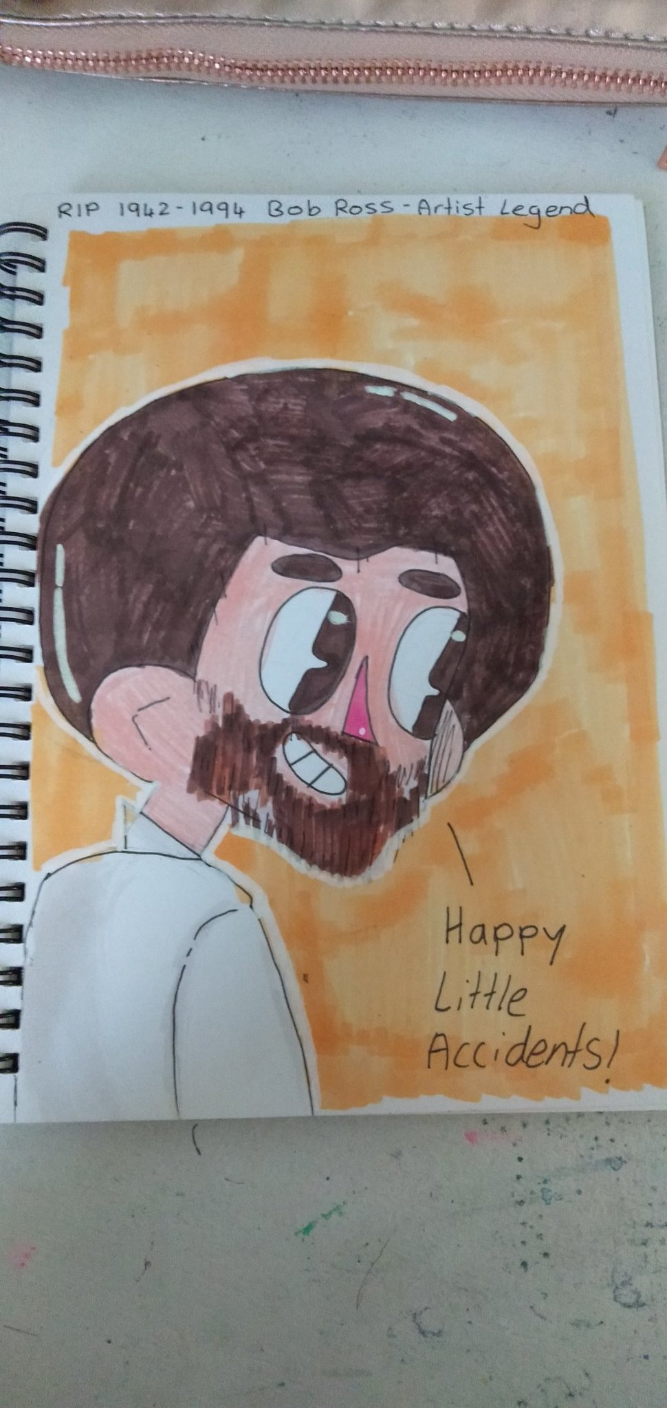 I drew Bob Ross...cause I love him - meme