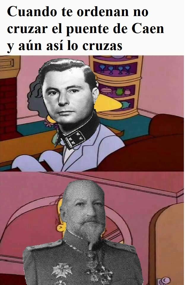Batalla de Caen - meme