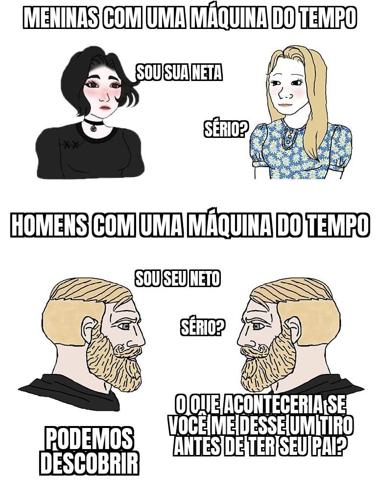 Por que homens vivem menos? - meme
