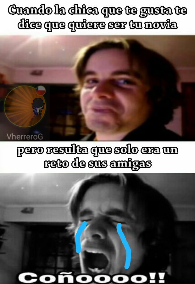 Solo queda llorar - meme