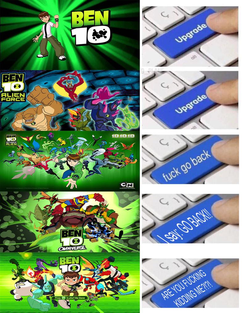 la cronología de ben 10 - meme