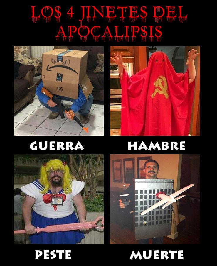 Los 4 jinetes del apocalipsis - meme