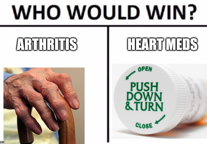 Who wins? The pain or the bottle? - meme