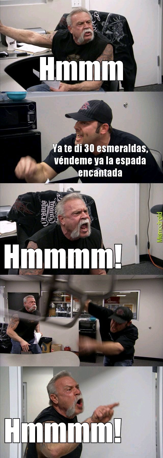Aldeanos timadores - meme