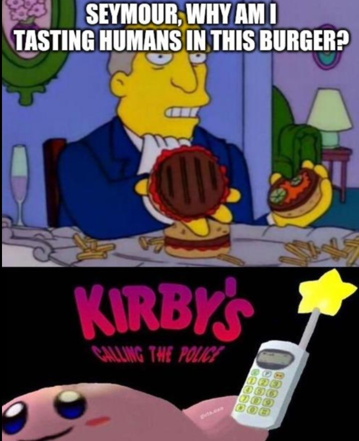 Kirby's calling the police - meme