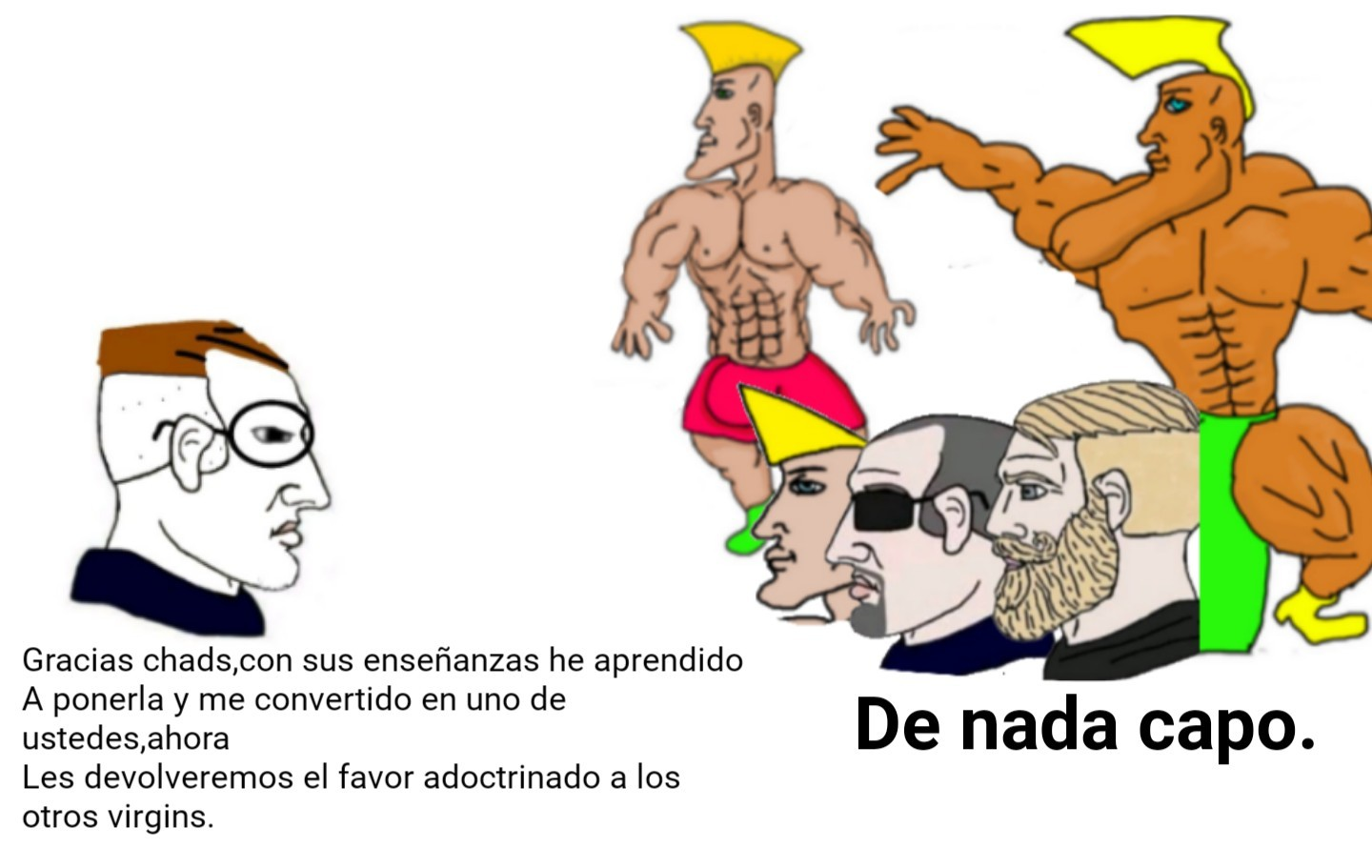 El virgin se ha vuelto chad. - meme