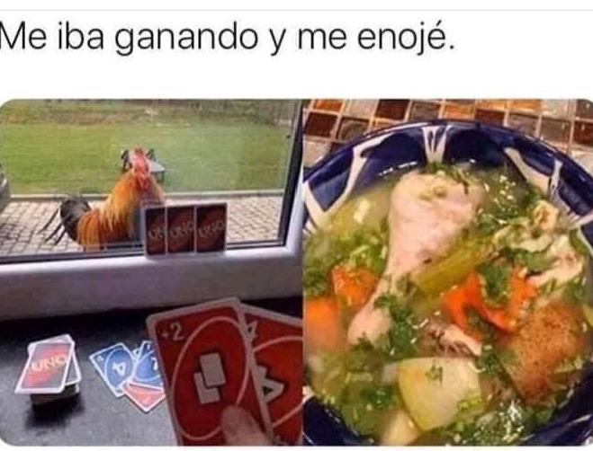 F por el pollo - meme