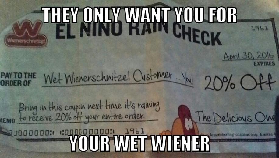 Wet wieners - meme