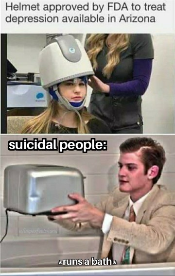 The more suicidal people there are, the less suicidal people there are - meme