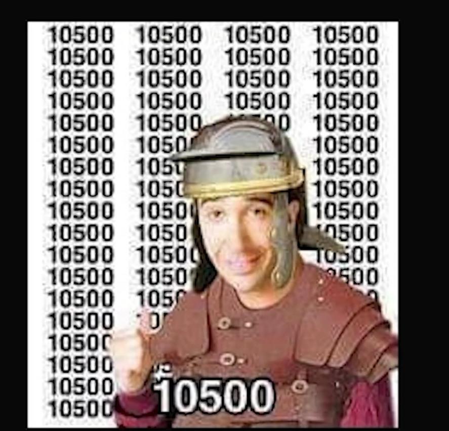 En numeros romanos sicnifica XD - meme