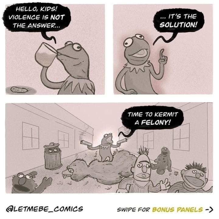 Irreverent kermit - meme
