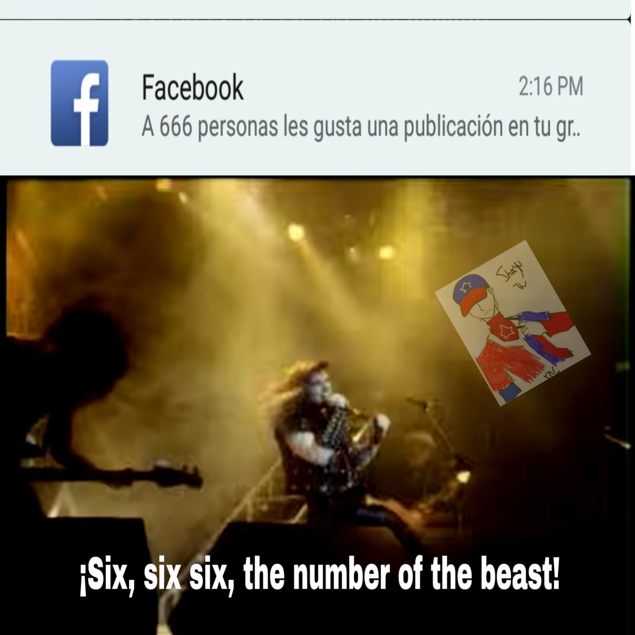 "La canción es ""The Number Of The Beast"" - meme"