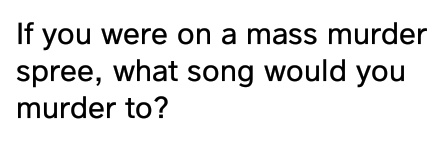 "I would murder to ""Tear you apart"" by She Wants Revenge - meme"