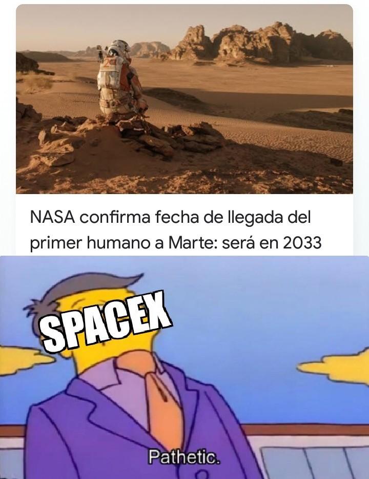SpaceX quiere en 2024 - meme