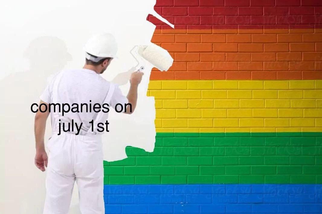 Les entreprises après le '' pride month''. - meme