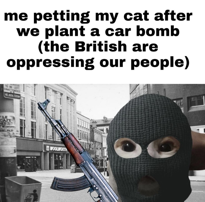 Come out ye bloody blacks and tans - meme