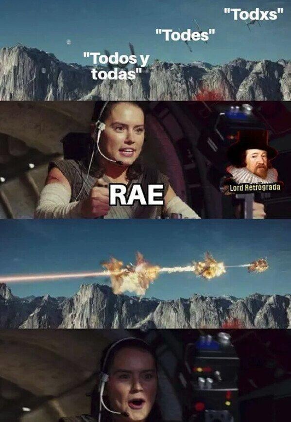 Ninguna es aceptada - meme