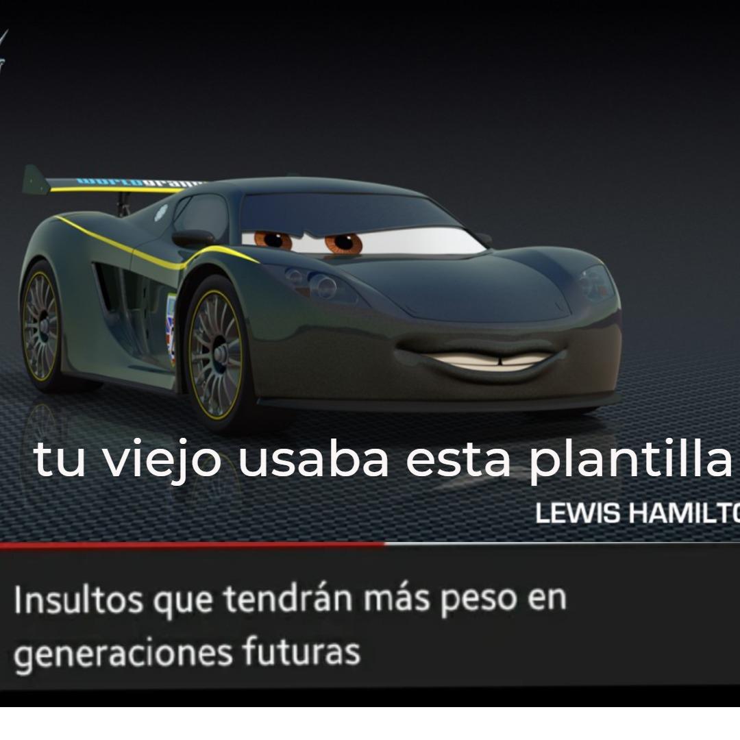 plantilla de cars - meme