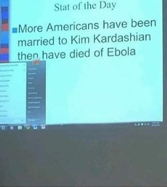 More Americans have been married to Kim Kardashian than have died of Ebola - meme