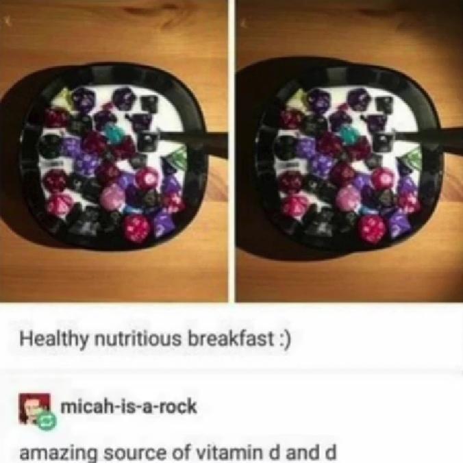 Vitamins D&D - meme