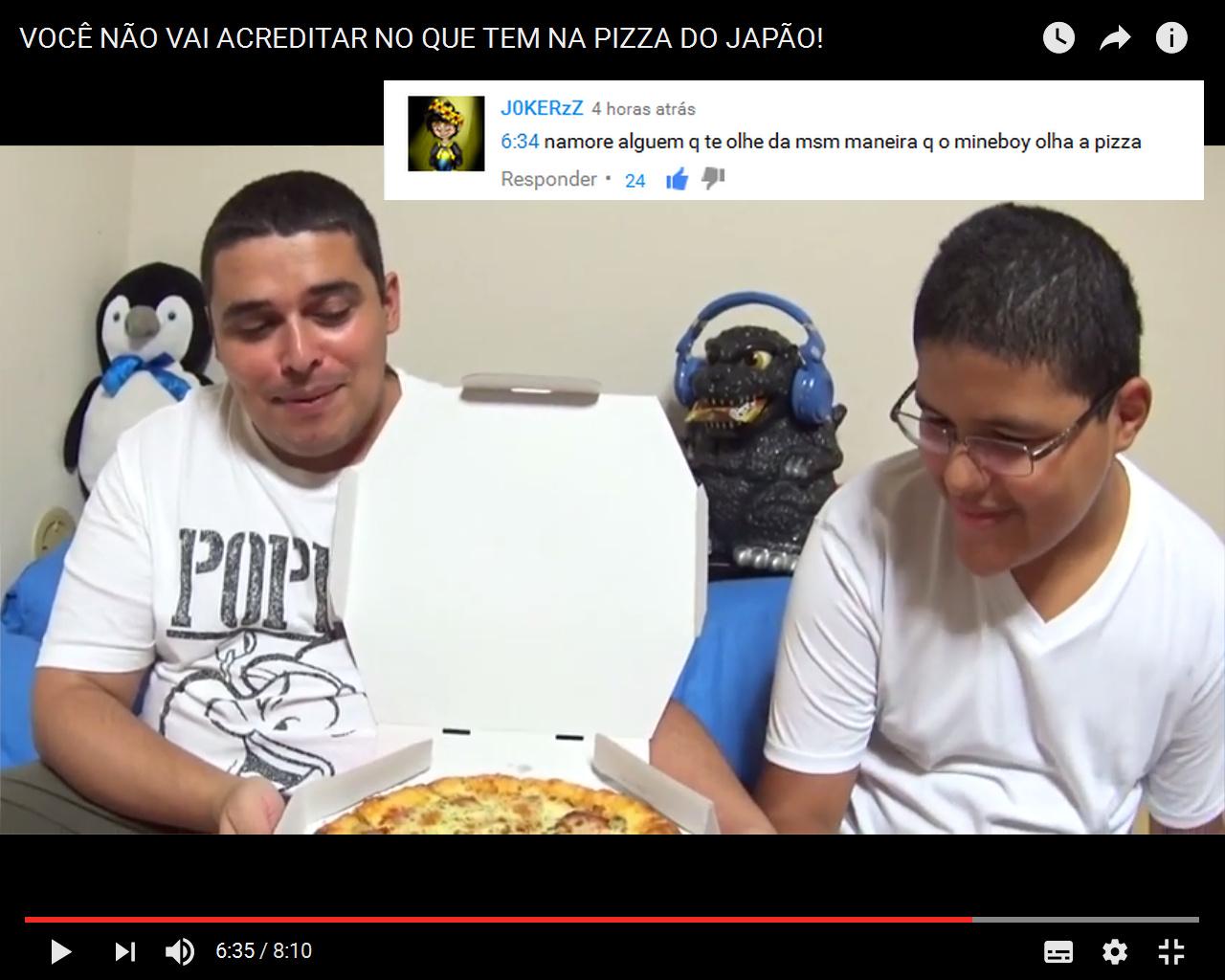 Mineboy pizzeiro - meme