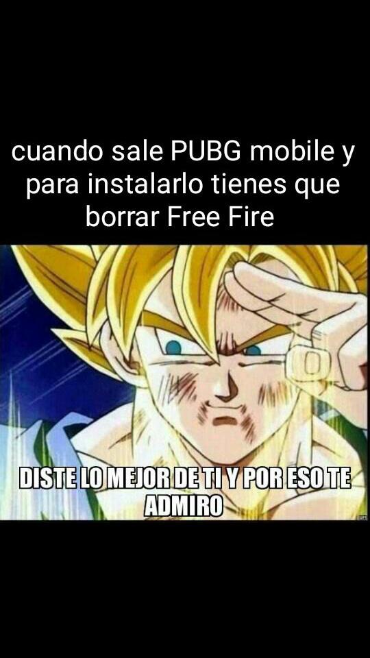 Adiós Free Fire - meme