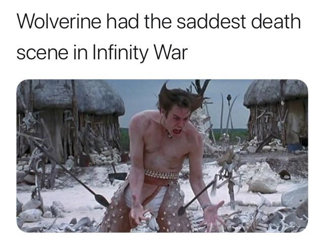 Wolverine scene in Infinity War - meme