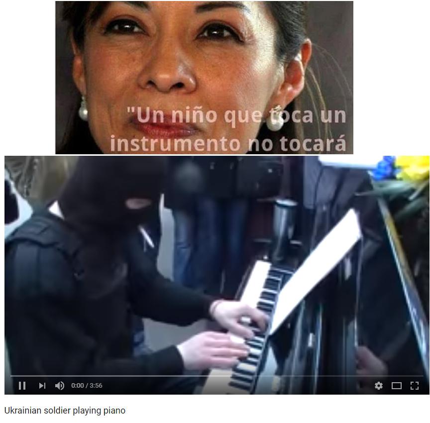 """""""Soldado Ucraniano tocando piano"""" - meme"""