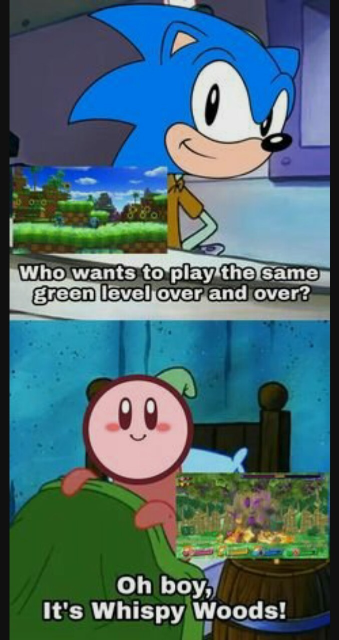 Sonic and Kirby share ideas - meme